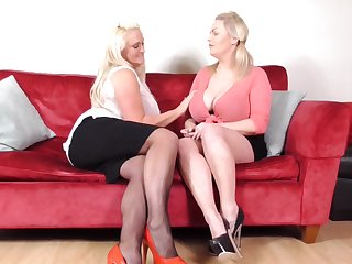 Chesty mature tow-headed lesbians Charley Unfledged added to Sarah Daniel