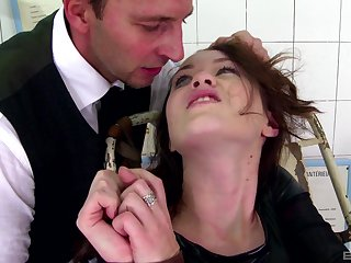 Submissive redhead Misha Cross spanked eternal and ass gaped