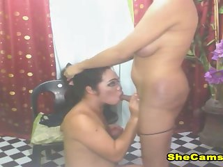 Two Sexy Shemale Sucking Cock Hardcore