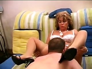 Sexy pretty good mature white lingerie