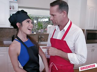 Align sex in the kitchen with adorable Gianna Gem and her old hat modern is memorable