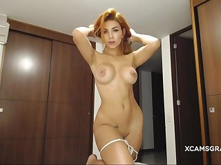 Stunning hot sexy babe masturbating with a toy