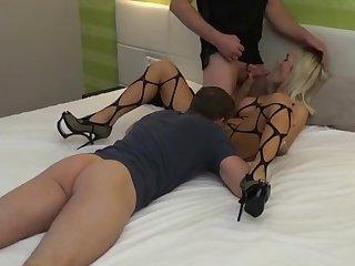german wasting away blonde milf anal trine dp