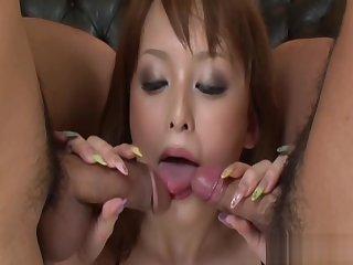 Ichika Hot Asian Sculpture Enjoys Giving Blow Jobs