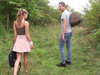 Loved blonde teen babe Tiffany Tatum gets a hard pussy fuck outdoors
