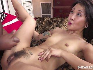 Asian Lady Plus Black Male Pole - ANALDIN