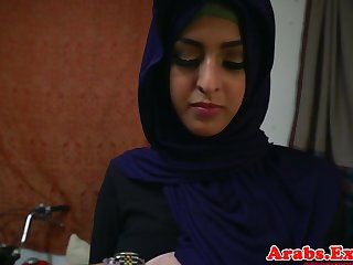 Arab hijabi fucked in rancid acquisitive pussy
