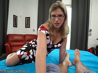 Slutty Mom Cory Chase Gives Step Son a Reserve Reject b do away with and Pussy