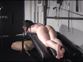 Bush-league spanking of Faye Corbin in blowjob whipping