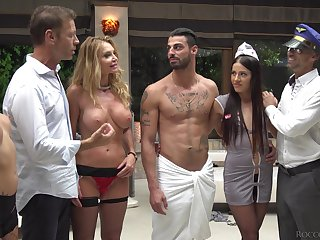 Hardcore anal pornstar orgy with slutty Joanna Bujoli
