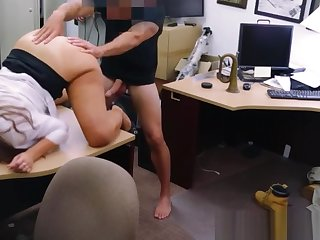 Real pawnshop amateur fingered and fucked