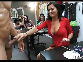 black person got surprised with a blowjob unconnected with horny and wild ladies