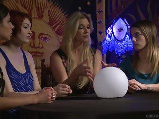 Blonde lesbian babes India Summer added to Kristen Scott ID card hard