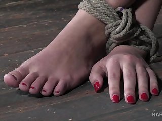 Kinky bondage in rough scenes of sexual intercourse for Red August