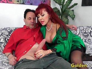 Big Tits Older Cumslut Sexy Vanessa Destroys a Unintentional Guys Cock