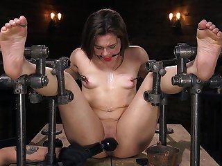 Restrained anal BDSM for sweet Kimber Woods