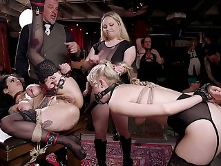 Well-built Chloe Roseate is turned into bondage whore who needs abiding fuck