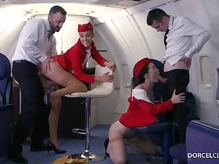Alexis Binoculars with an increment of Misha Cross are VIP stewardesses who were hired down do everything down please dudes