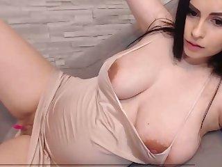 lovely pregnant babe enjoys vibrator on her wet pussy