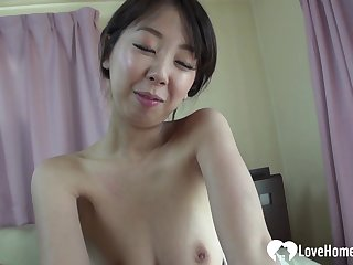 Bonking a hot Asian babe hardcore in doggy