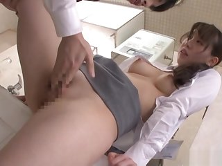 Office lady enjoying some intense stand fucking