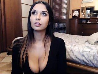Big busty brunette in hot foot fetish