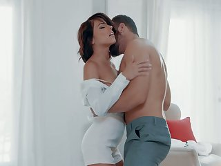Bonny and passionate sex with respect to adorable brunette Adriana Chechik