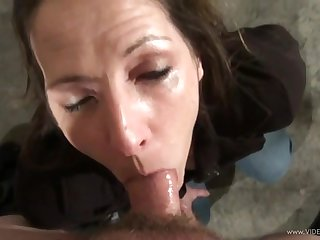 Sweet porn hottie Marie Madison treats cock a hot with an increment of unsightly blowjob