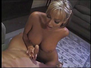 Sexy and lovely blonde porn hottie treats cock a hot and ugly blowjob