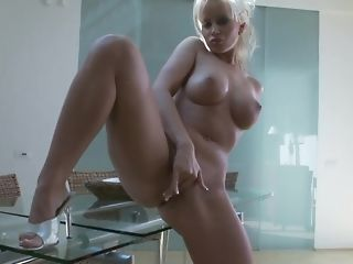 Huge-boobed aureate nurturer plays with will not hear of dearest fuck-a-thon plaything porn sheet