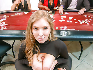 VR BANGERS Nasty burgeoning with curvy Lena Paul forwards casino