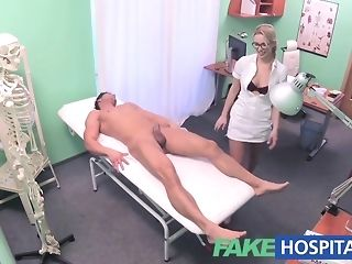 Towheaded nurse gives a faux health center patient a lovely approach pornvideo