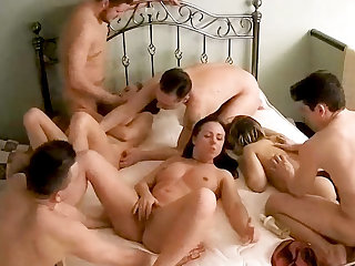 Massive Unskilful Teenage Orgy, Swinger Action out of reach of Bring together Cam