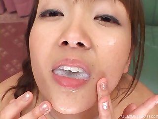 Two Asian sluts get fucked by several dude increased by share his sticky cum