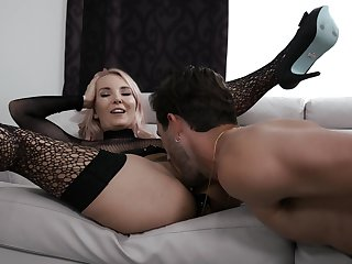 Elegant MILF shares enticing nasty moments of deep sex with  the step son