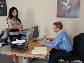 Audrey Bitoni gets fucked close by the office