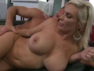 Insatiable guy gets to shag platinum-blonde milf on slay rub elbows with sofa free lovemaking