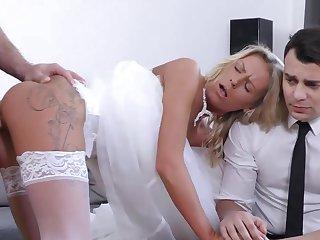Czech bride Claudia Macc fucked down front of her upset groom