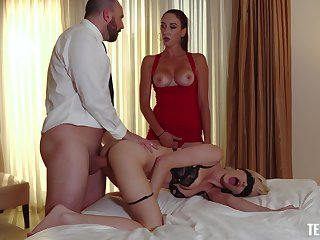 Staggering threeway pleasures for Artemisia Love and Skye Blue