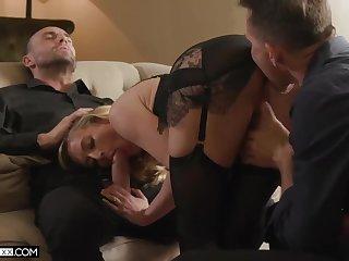 Blowjob, Cum, Cumshot, Threesome, Wife