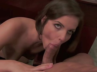 Amateur throated and jizzed in perfect XXX shag