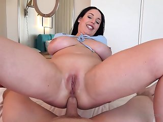 Blue- witnessed dark-haired got up vulnerable her knees to fellate jizz-shotgun after getting inserted Chesterfieldian