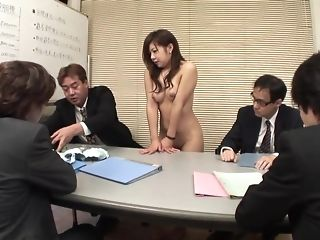 Ultra-cute japanese assistant deepthroats spears during a appointment sextube