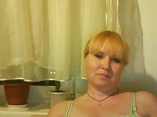 Plump kirmess milf Tamara excitingly fondles boobies